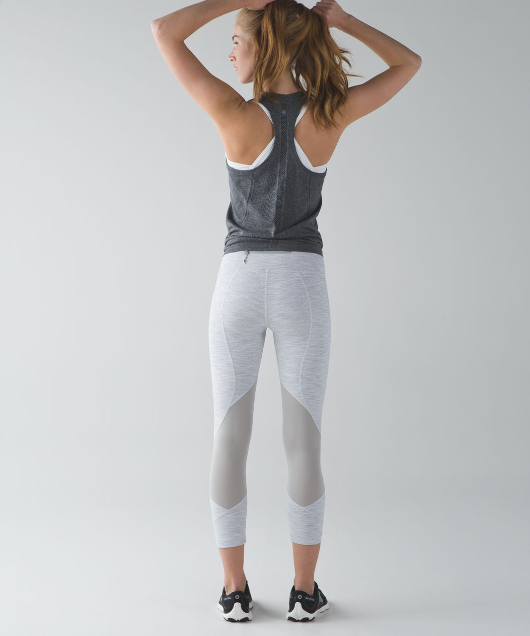 Lululemon Pace Rival Crop - Wee Are From Space Nimbus Battleship / Seal Grey