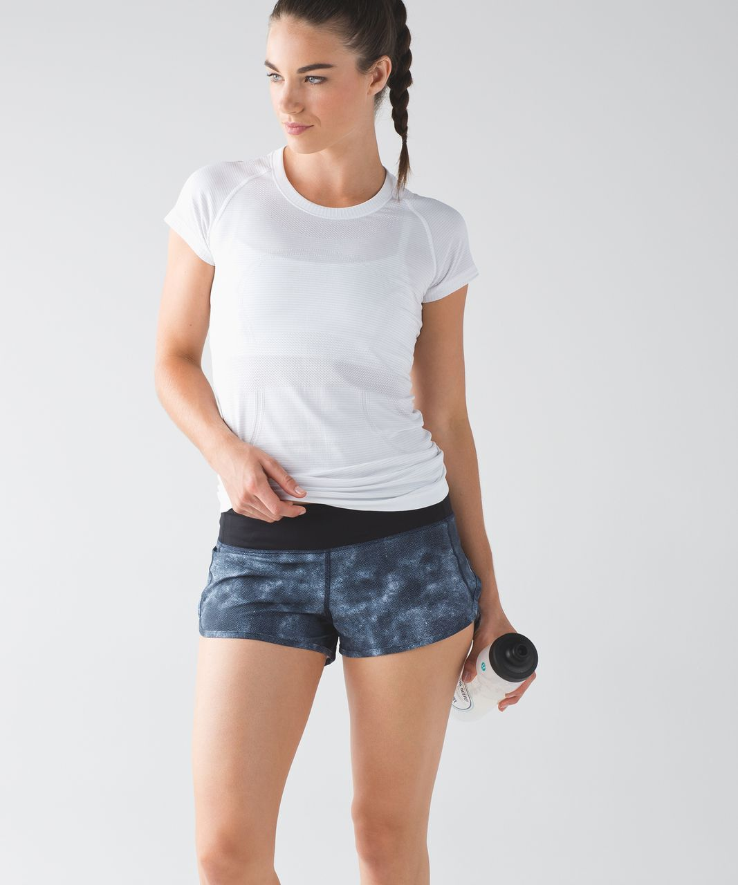 Lululemon Speed Short - Mini Diffusion White Black / Black