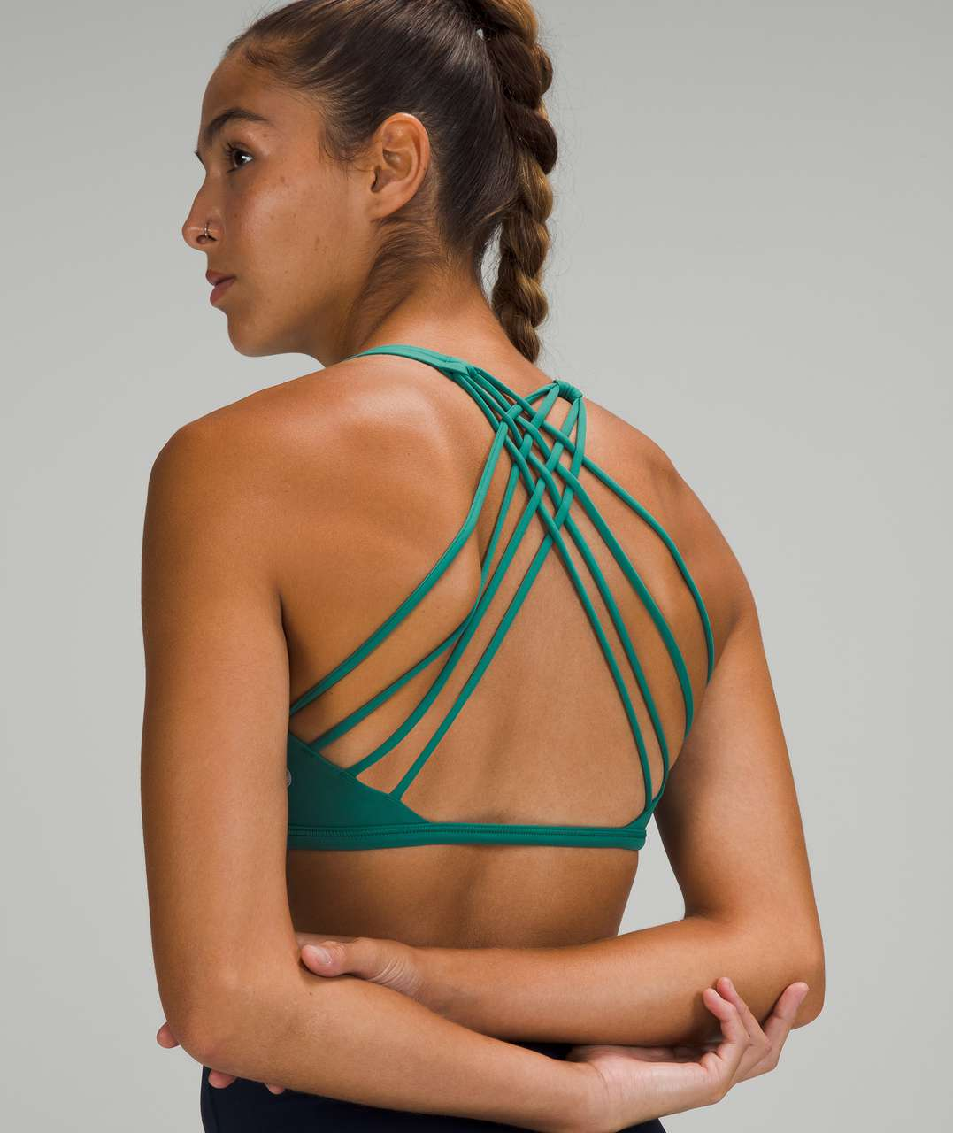 Lululemon Free to Be Bra - Wild *Light Support, A/B Cup - Teal Lagoon