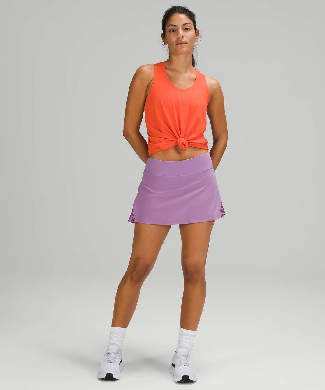 Lululemon Play Off The Pleats Mid Rise Skirt - Wisteria Purple