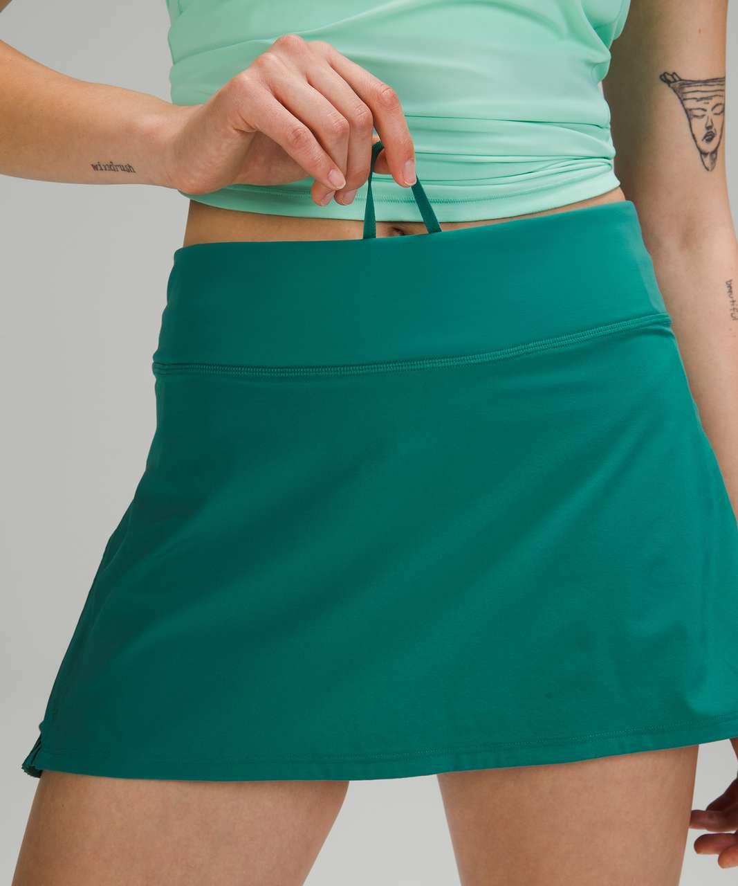 Lululemon Play Off The Pleats Mid Rise Skirt - Teal Lagoon