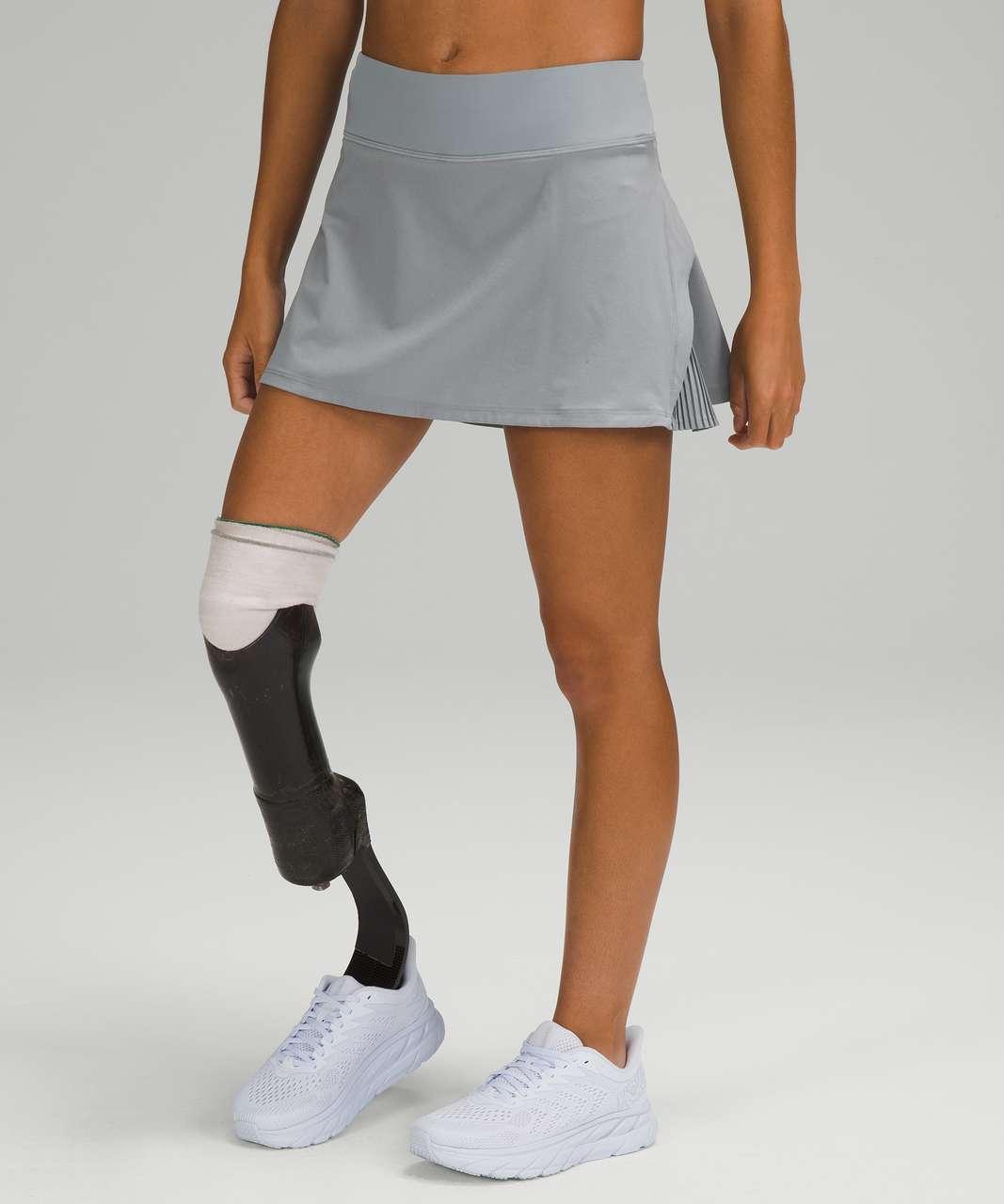 Lululemon Play Off The Pleats Mid Rise Skirt - Rhino Grey