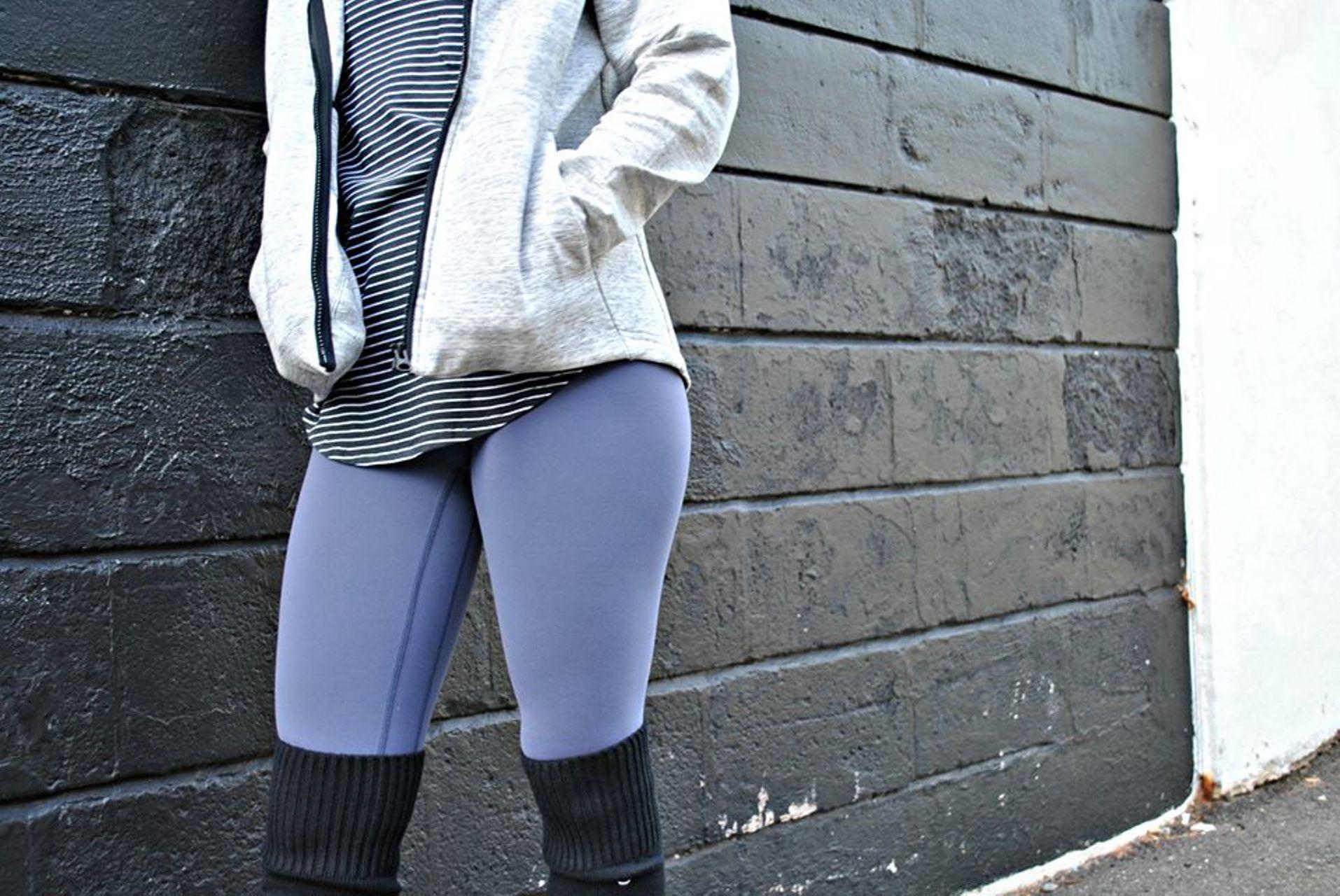 Lululemon Love Tee III - Modern Stripe Heathered Black White