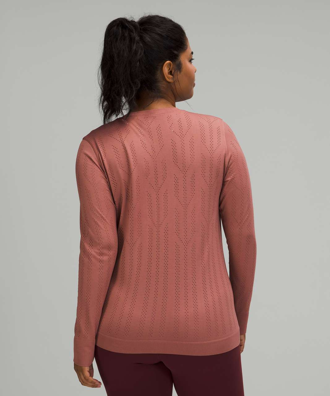 Lululemon Swiftly Breathe Long Sleeve *Fetching Lines - Fletching Lines Spiced Chai