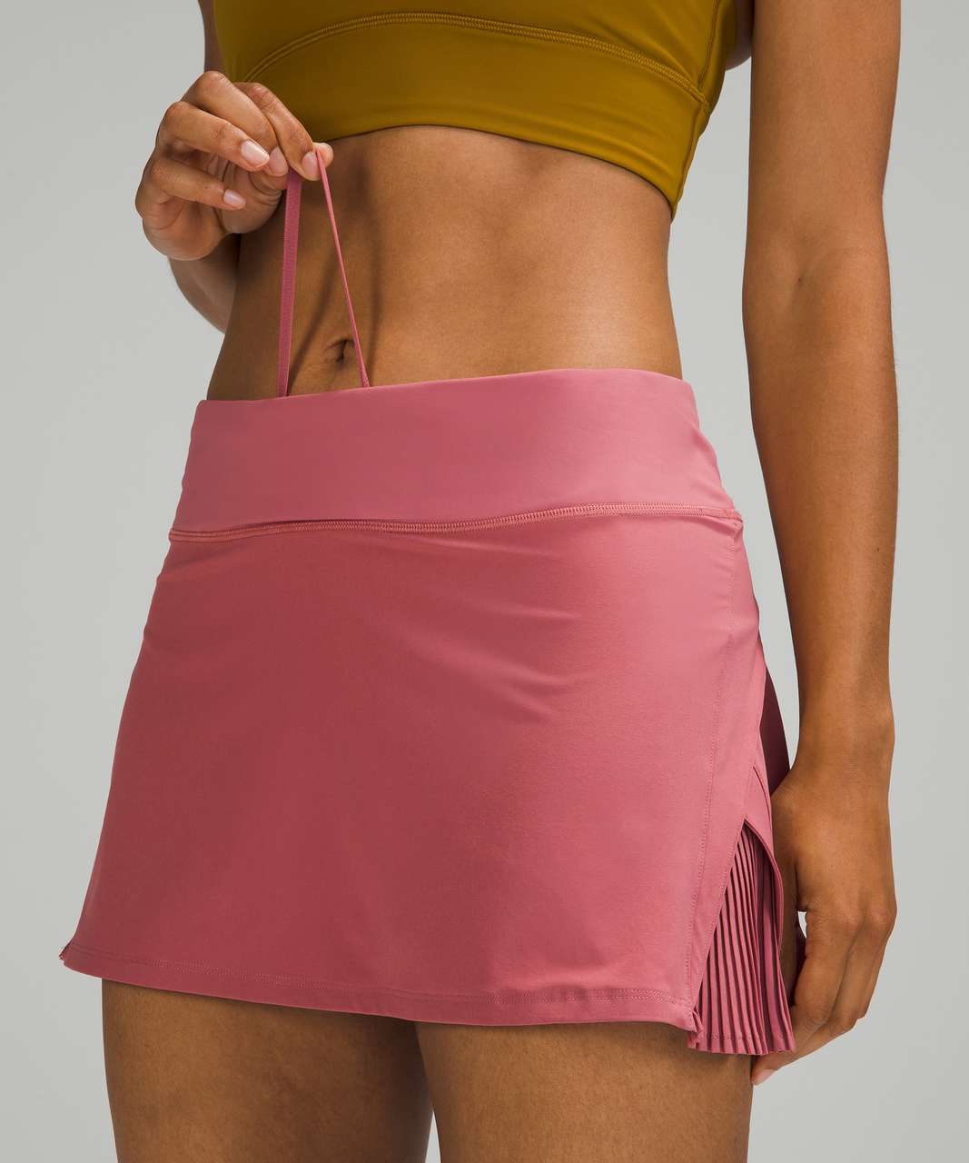 Lululemon Play Off The Pleats Mid Rise Skirt - Brier Rose
