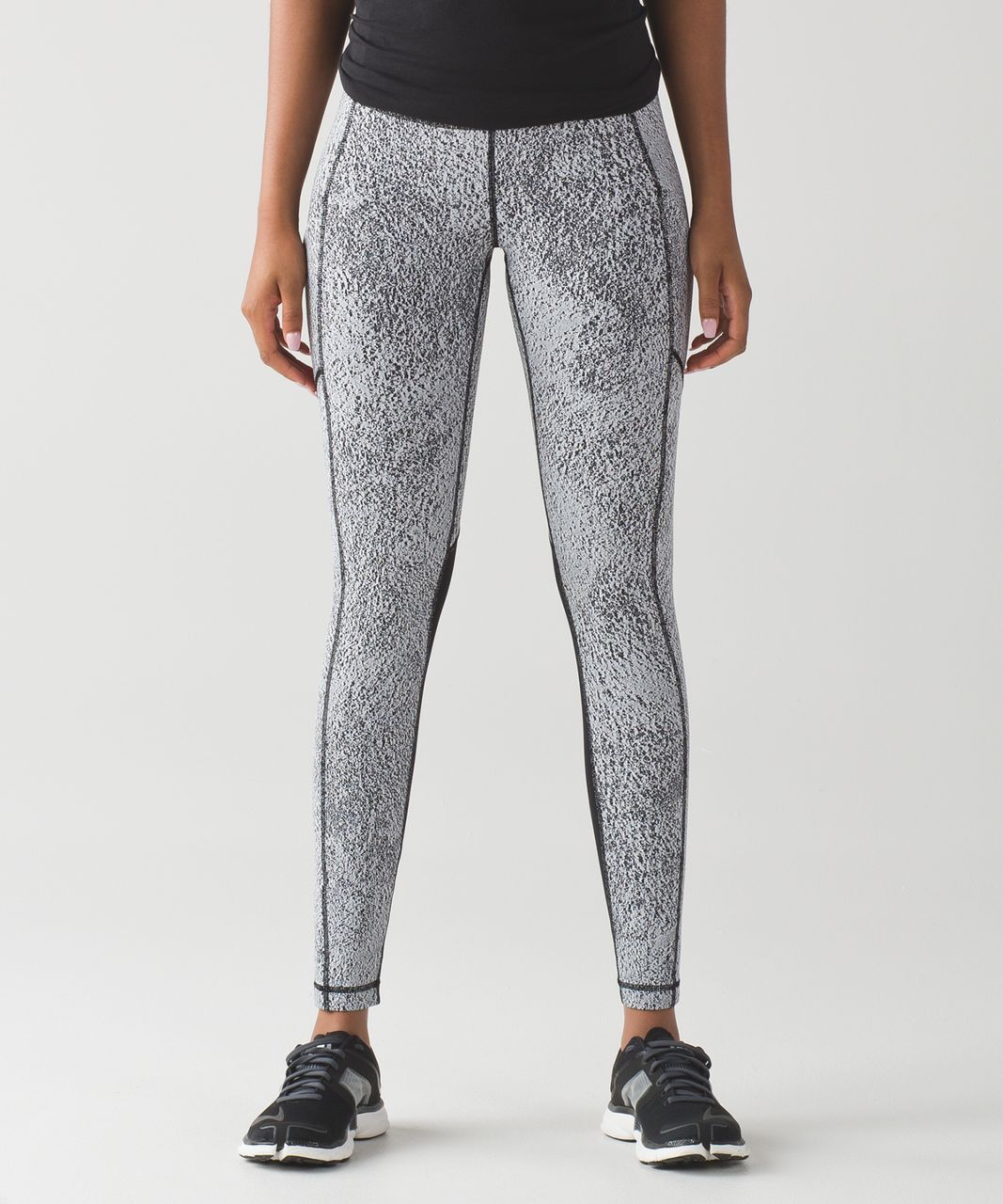 Lululemon Speed Tight V - Power Luxtreme Spray Jacquard White Black / Black