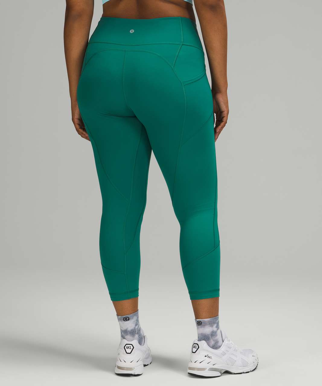 """Lululemon All The Right Places Crop *23"""" - Teal Lagoon"""