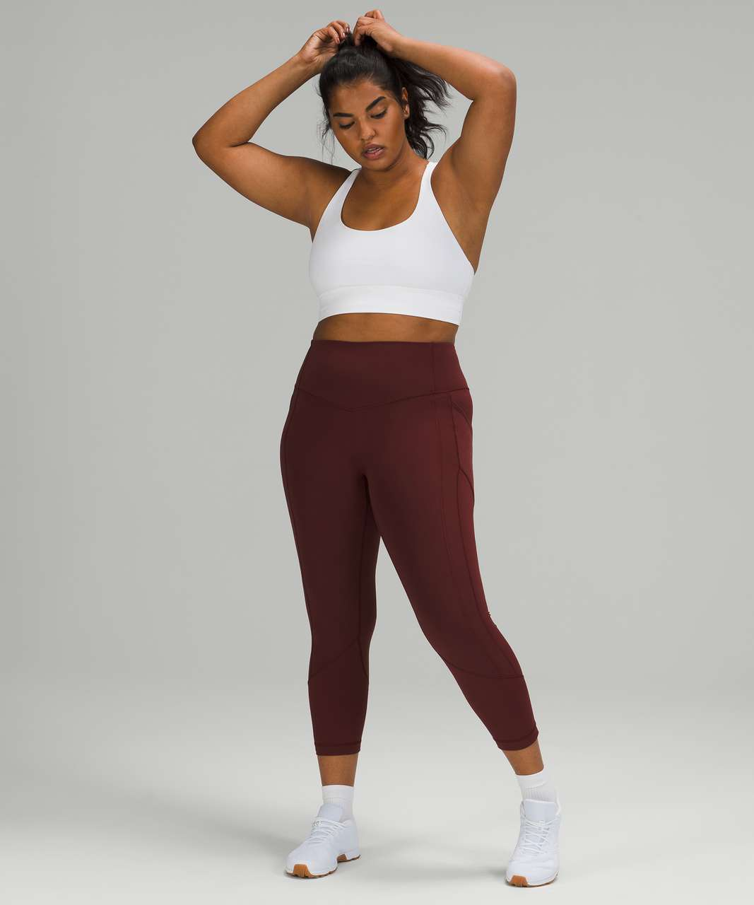 """Lululemon All The Right Places Crop *23"""" - Red Merlot"""