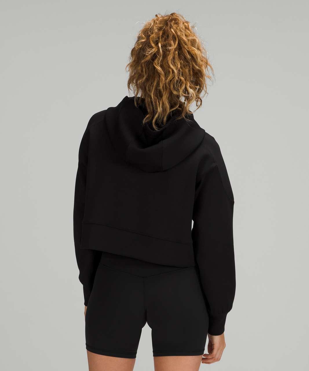 Lululemon Get Centred Crop Hoodie - Black / Black