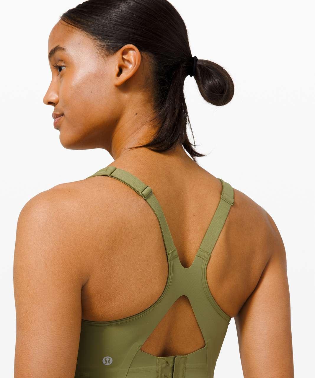 Lululemon All Powered Up Bra *Medium Support, A-E Cups - Bronze Green