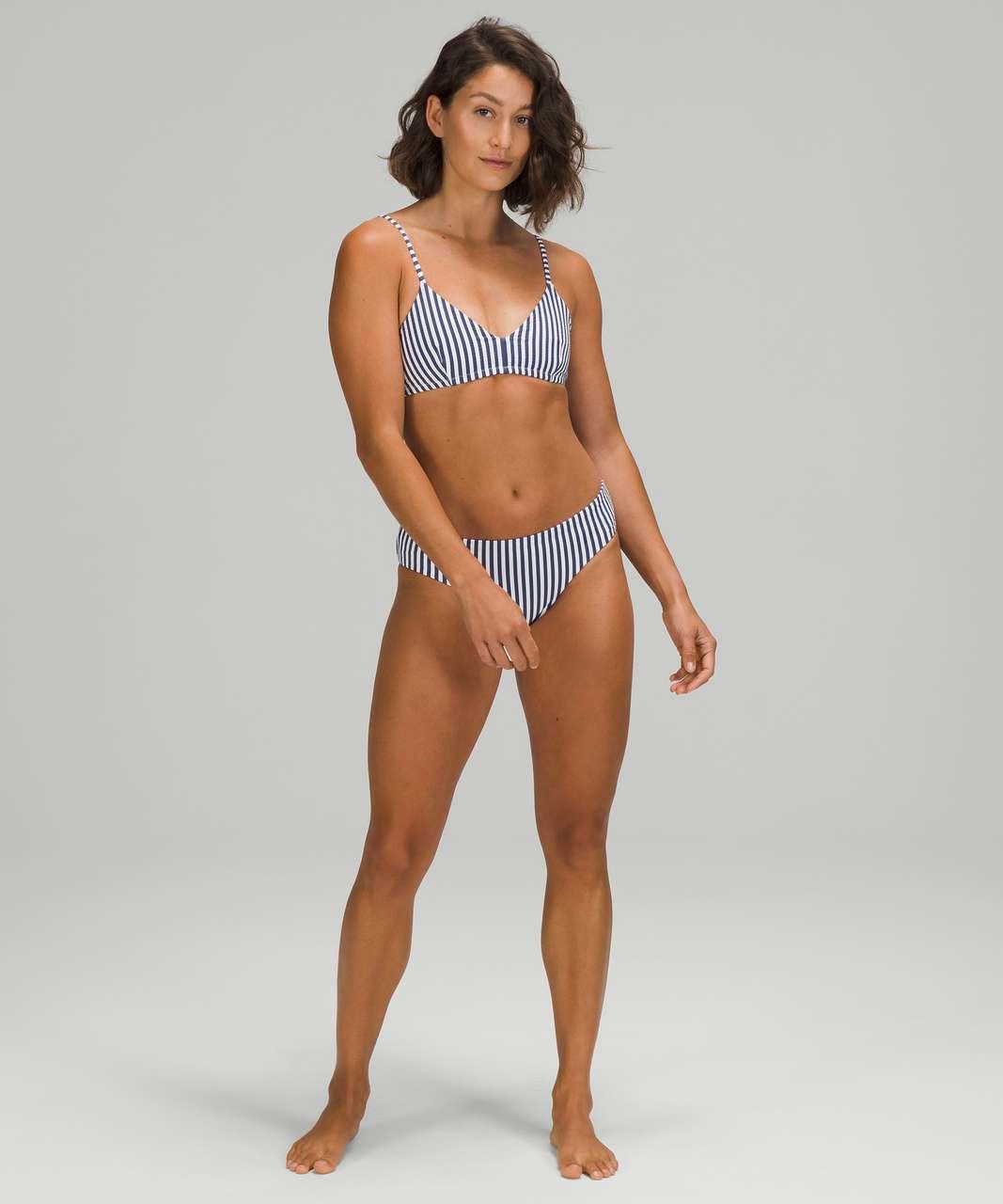 Lululemon Seersucker Triangle Swim Top *A/B Cups - Energize Stripe White Blue Hail