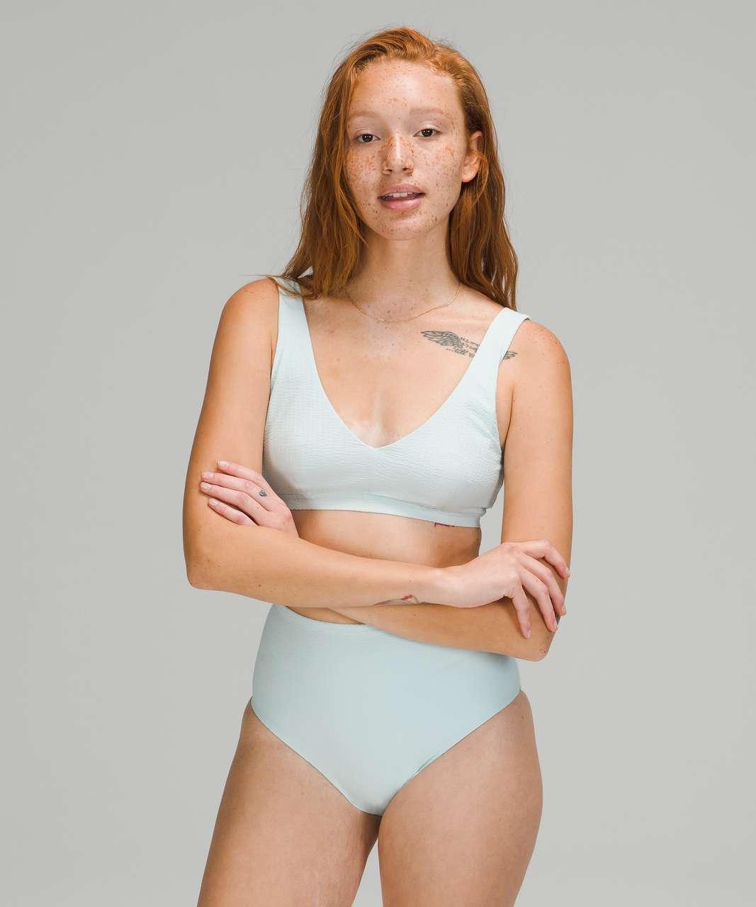 Lululemon Waterside V Seersucker Swim Top *C/D Cups - Sheer Blue