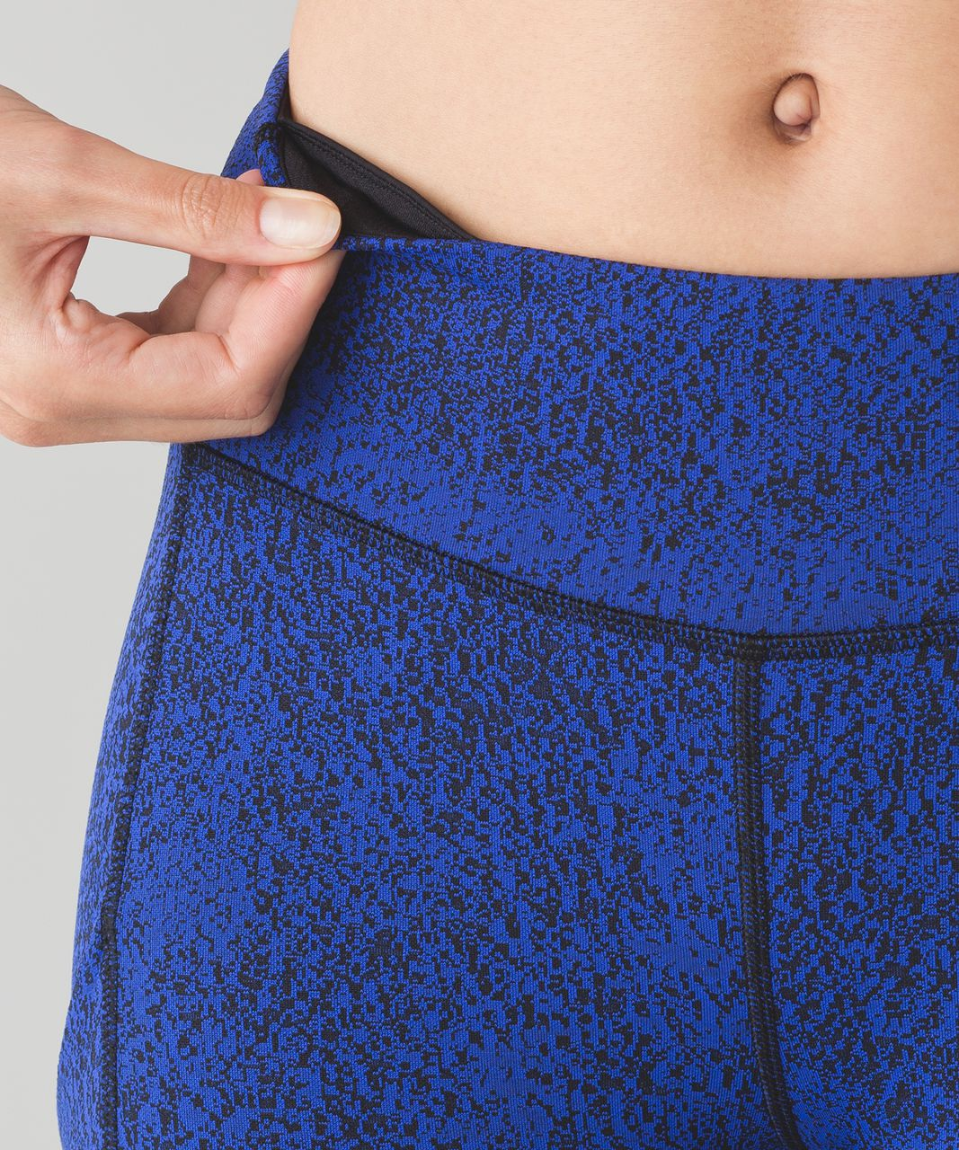 Lululemon Speed Tight V - Power Luxtreme Spray Jacquard Sapphire Blue Black / Black