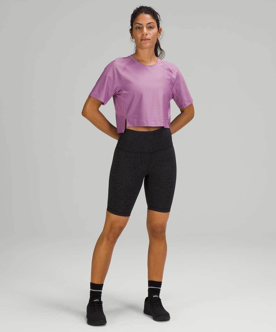 Lululemon Mesh Back Cropped Train T-Shirt - Wisteria Purple