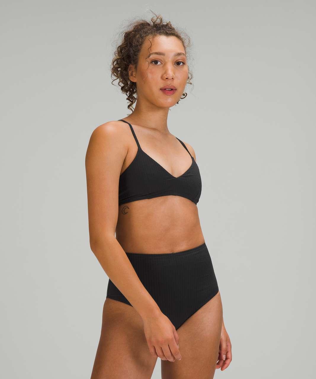 Lululemon Seersucker Triangle Swim Top *A/B Cups - Black