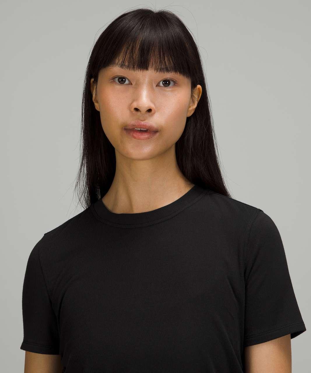 Lululemon Side Cinch Ribbed T-Shirt - Black