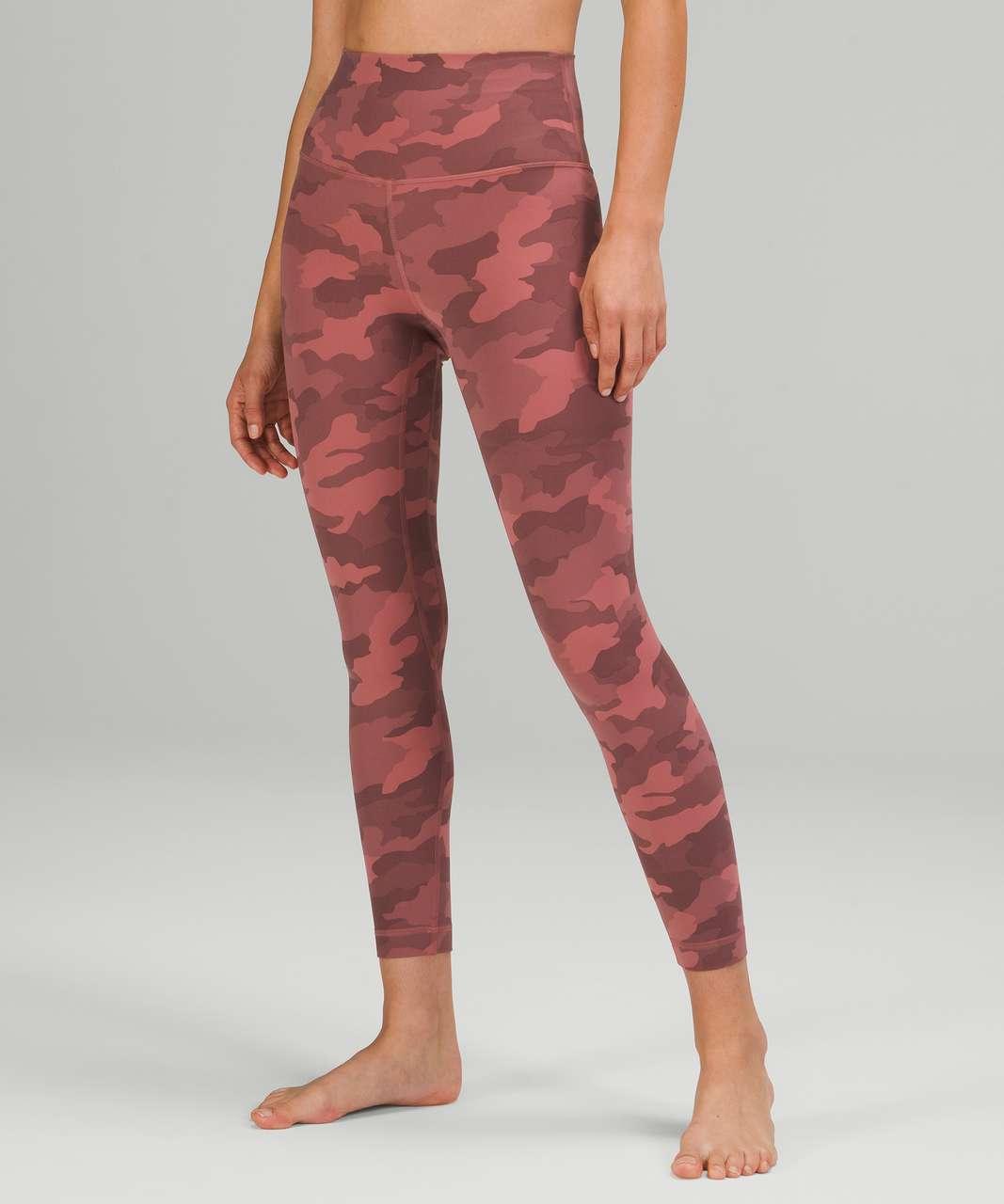 "Lululemon Align High-Rise Pant 25"" - Heritage 365 Camo Brier Rose Multi"