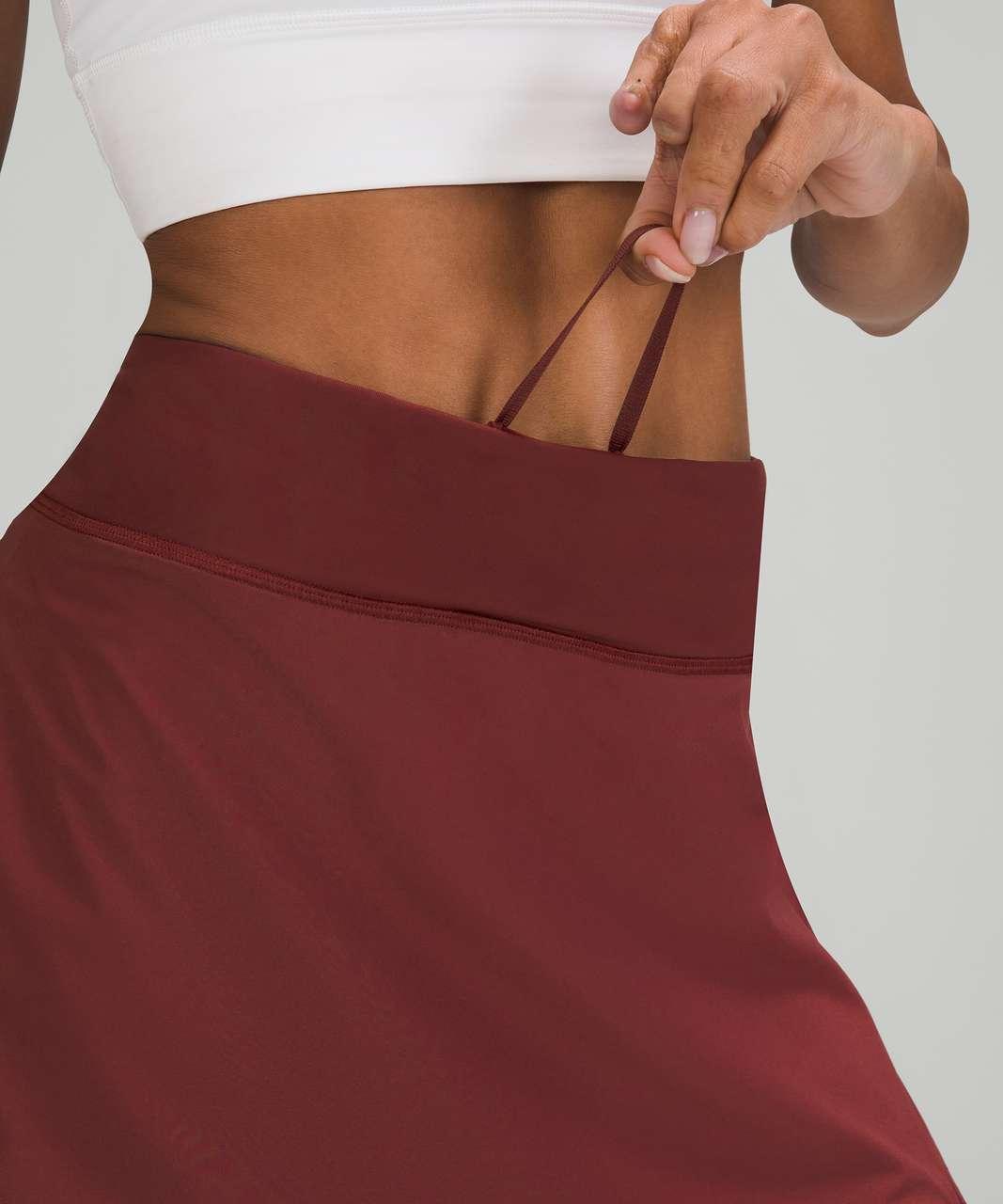 Lululemon Play Off The Pleats Mid Rise Skirt - Red Merlot