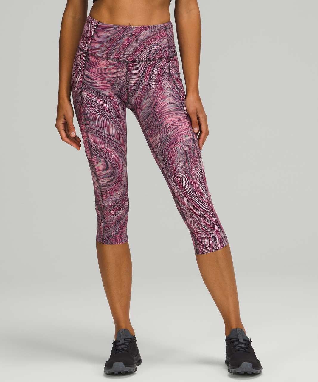 """Lululemon Fast and Free High-Rise Crop 19"""" - Dimensional Sonic Pink Multi"""