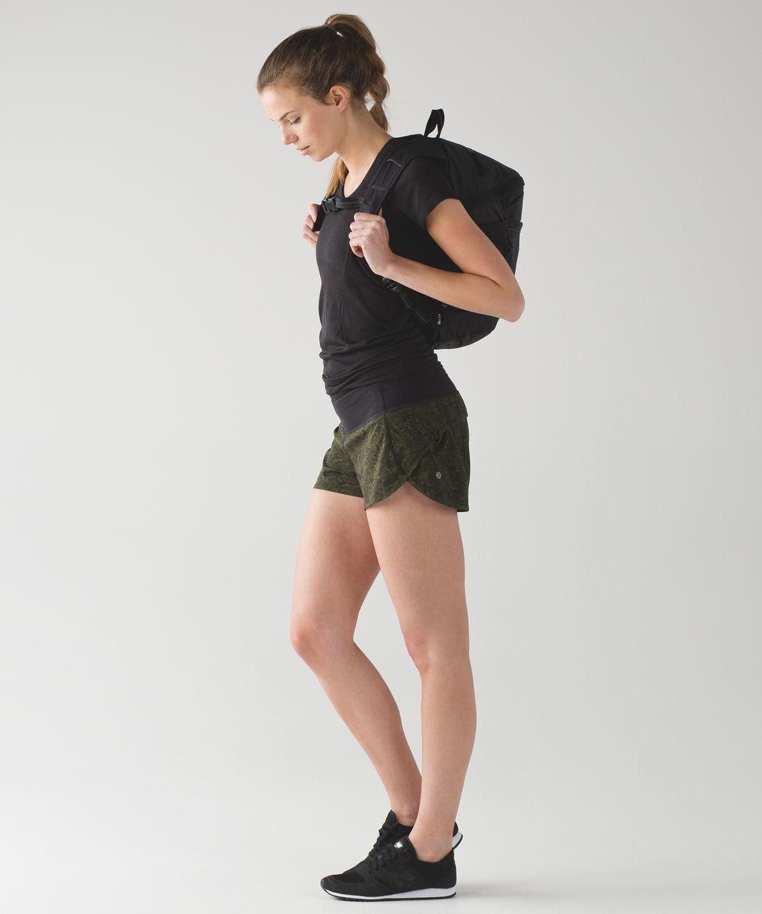 Lululemon Speed Short - Mini Pencil Lace Brave Olive Black / Black