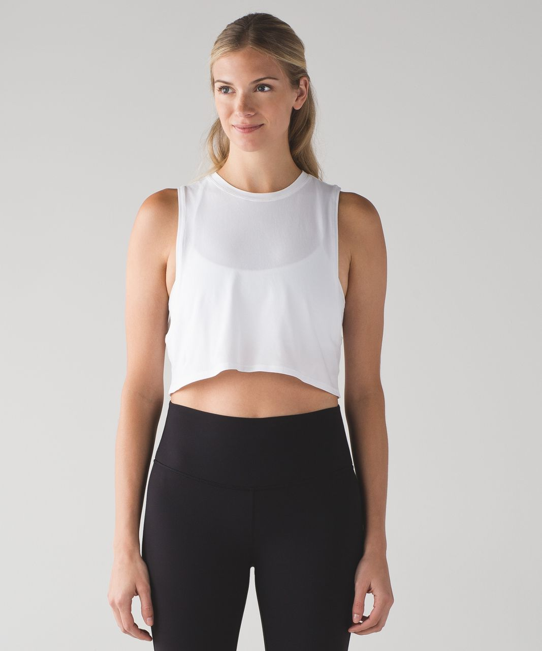 0caa7f48a3bfa Lululemon Muscle Love Crop Tank - White - lulu fanatics