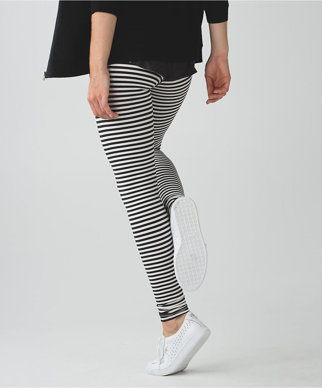 Lululemon Wunder Under Pant - Narrow Bold Stripe Black Angel Wing / Grapefruit