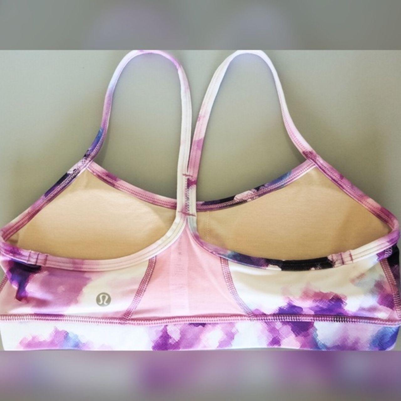 Lululemon Flow Y Bra IV - Blooming Pixie Multi / Vintage Pink