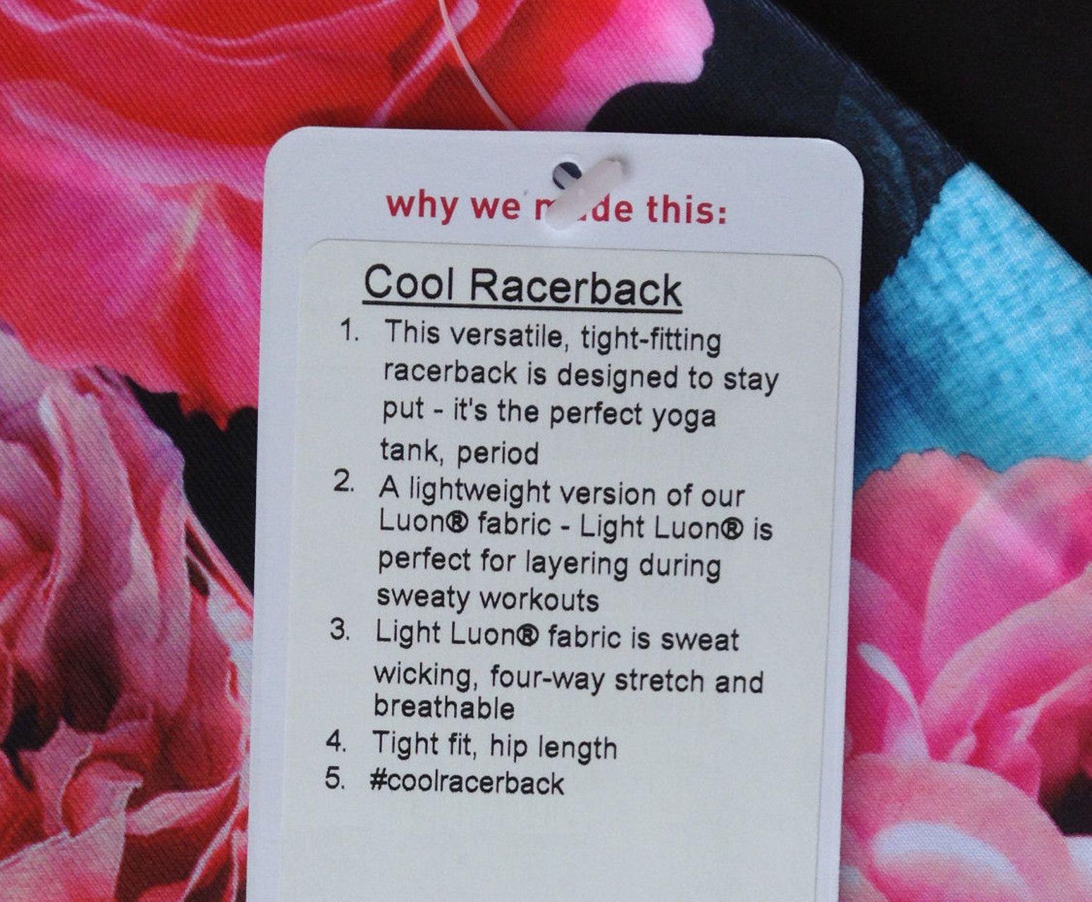 Lululemon Cool Racerback - Secret Garden