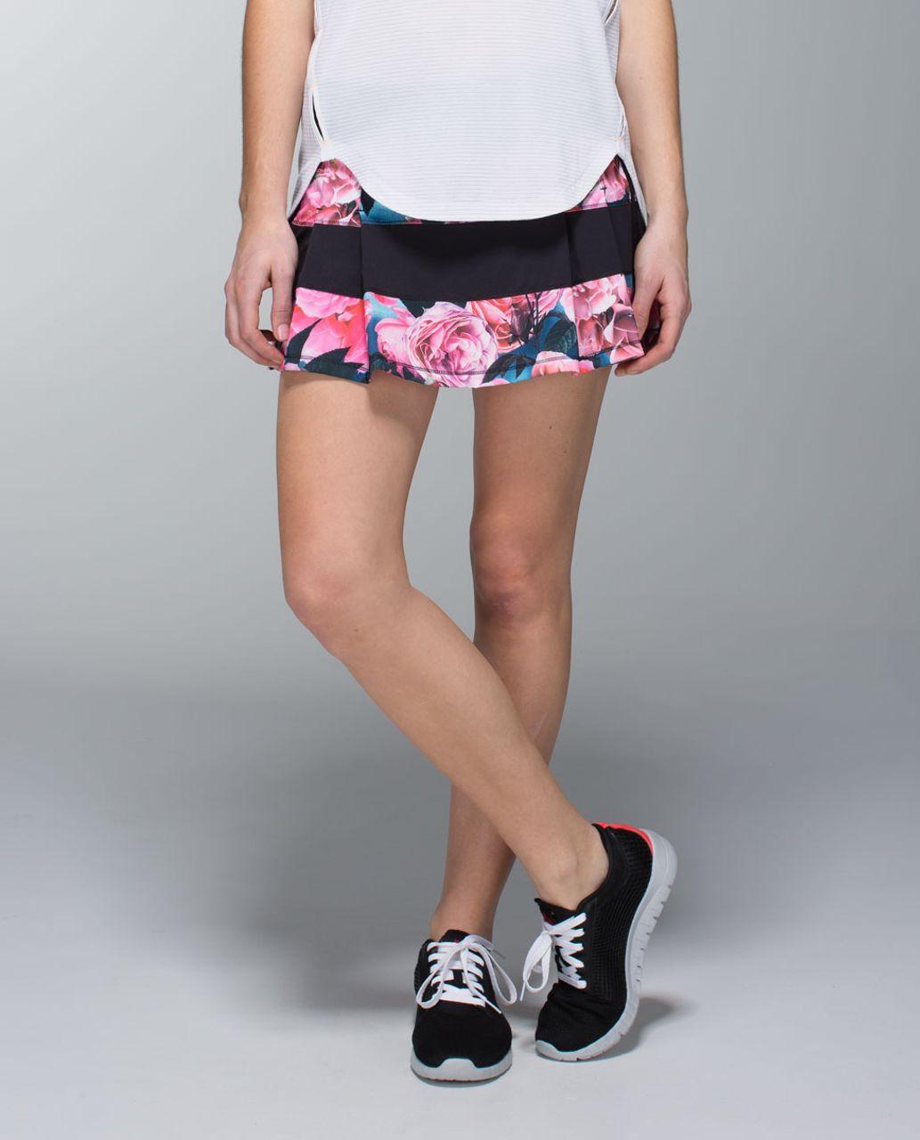 Lululemon Pace Rival Skirt (Regular) *4-way Stretch - Secret Garden / Black