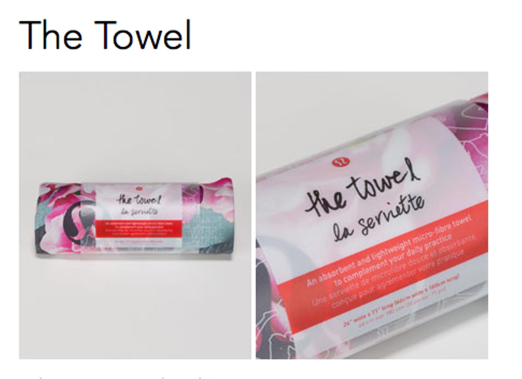 Lululemon The Towel - Jumbo Secret Garden Multi
