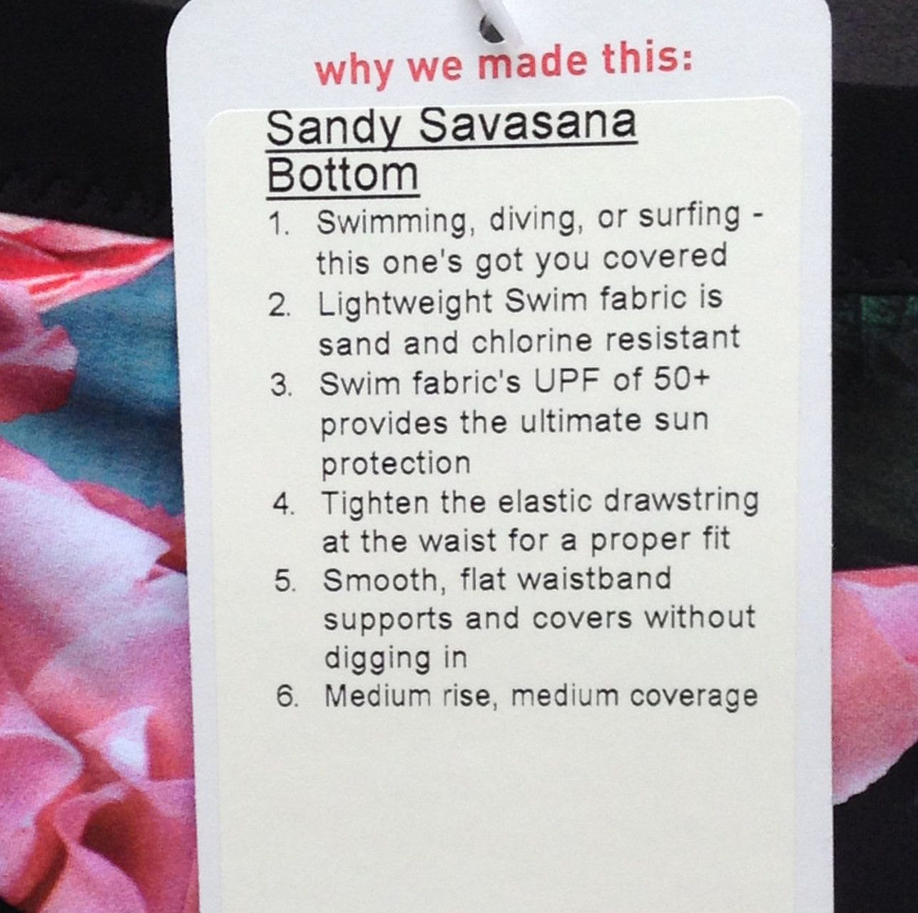 Lululemon Sandy Savasana Bottom - Secret Garden / Black