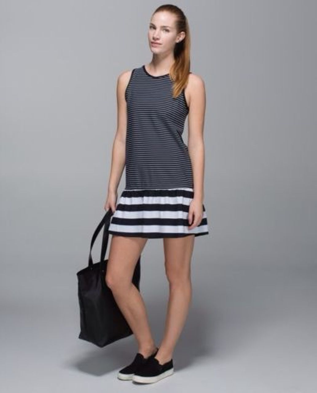 Lululemon Both Ways Dress - Parallel Stripe / Black