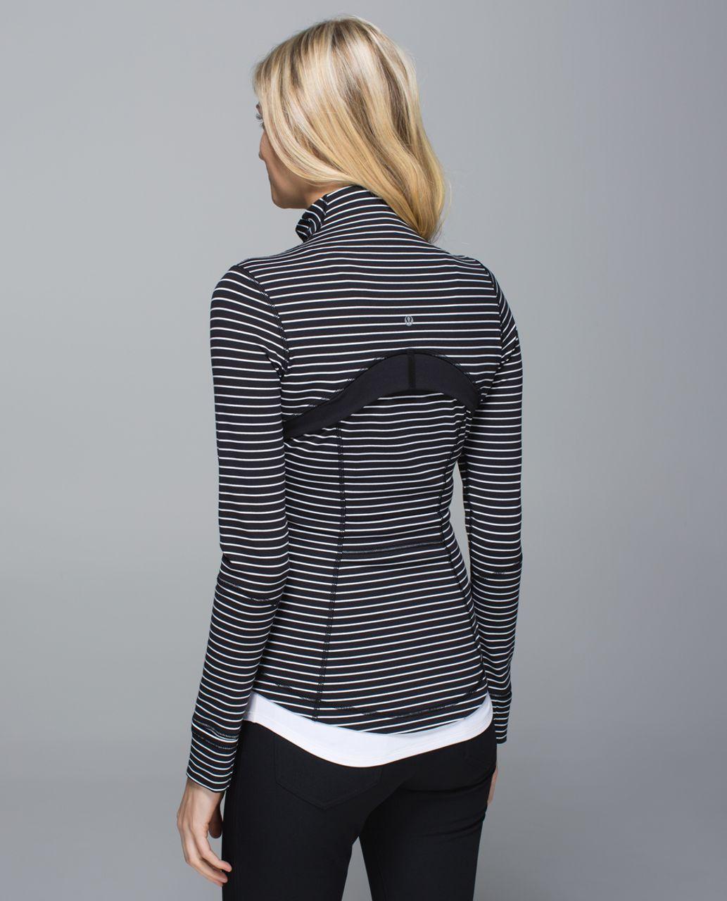 Lululemon Define Jacket - Parallel Stripe Black White / Black