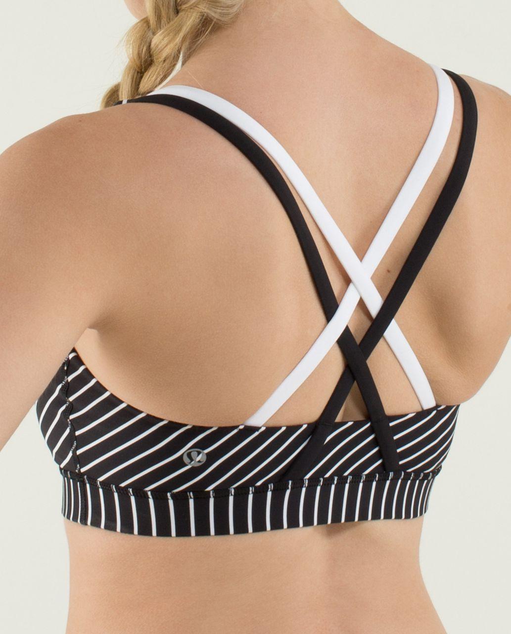 Lululemon Energy Bra - Parallel Stripe Black White / Black