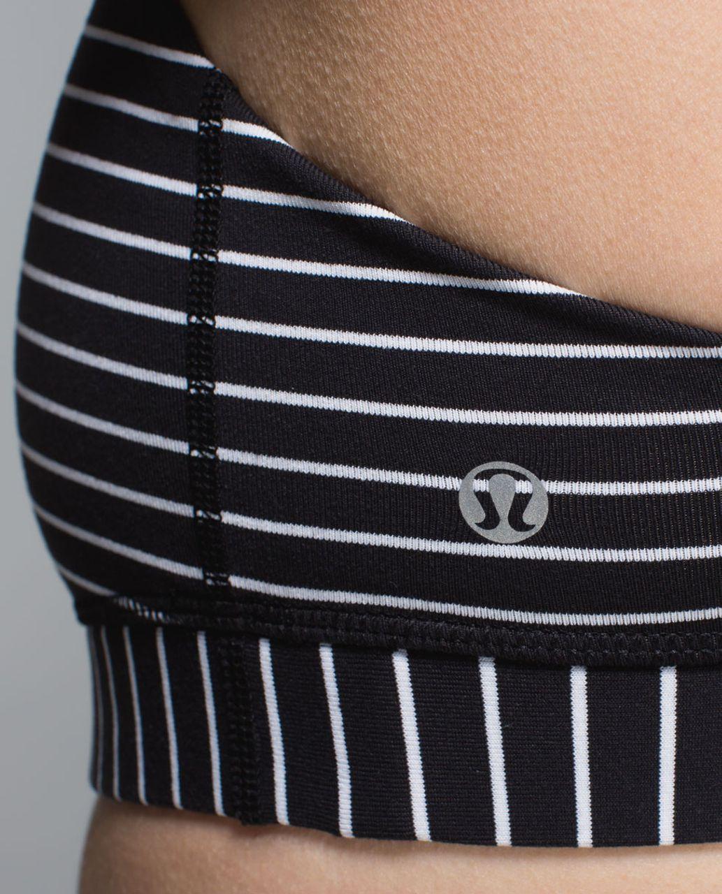 Lululemon 50 Rep Bra - Parallel Stripe Black White