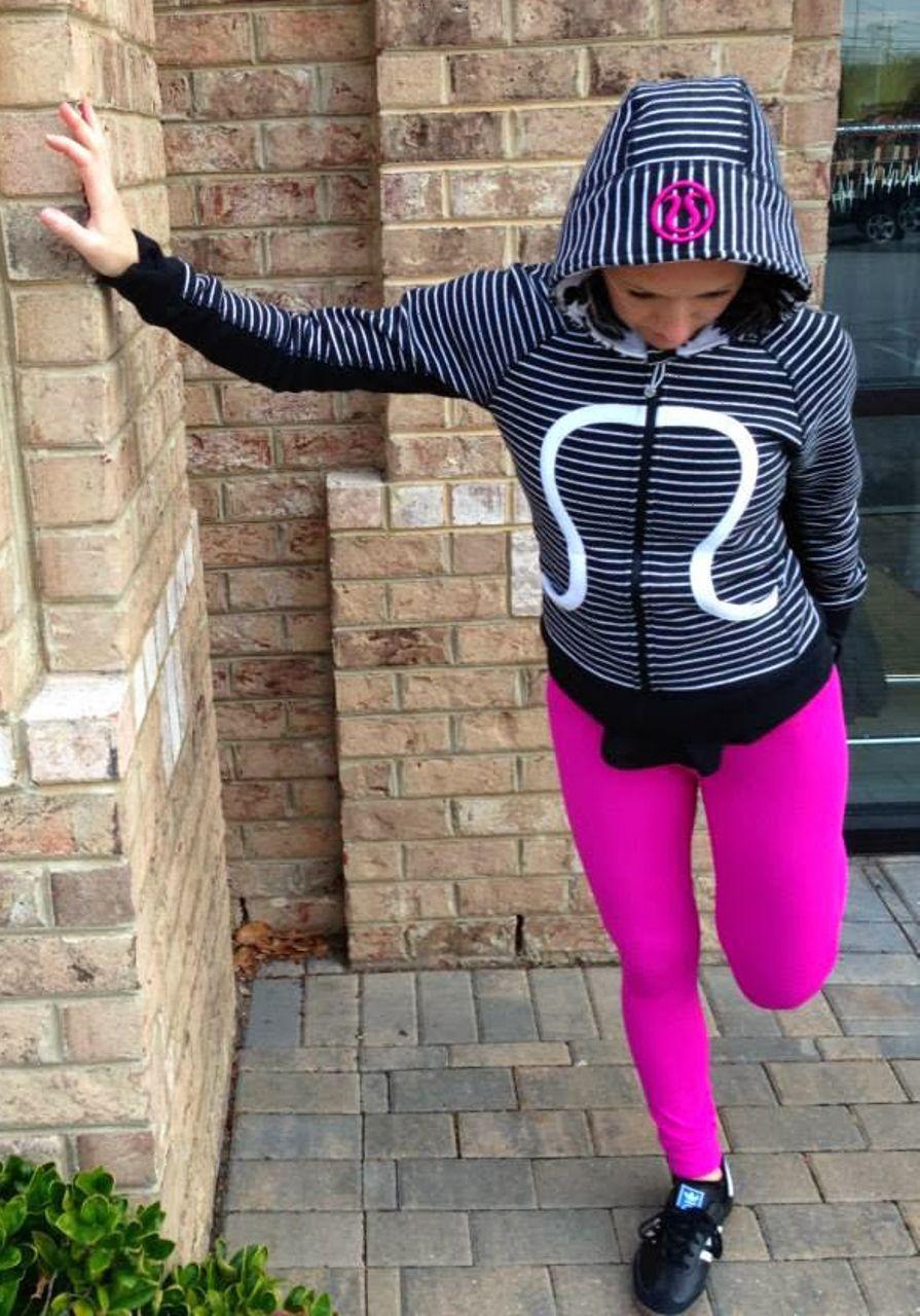 Lululemon Scuba Hoodie *Stretch - Parallel Stripe Black White