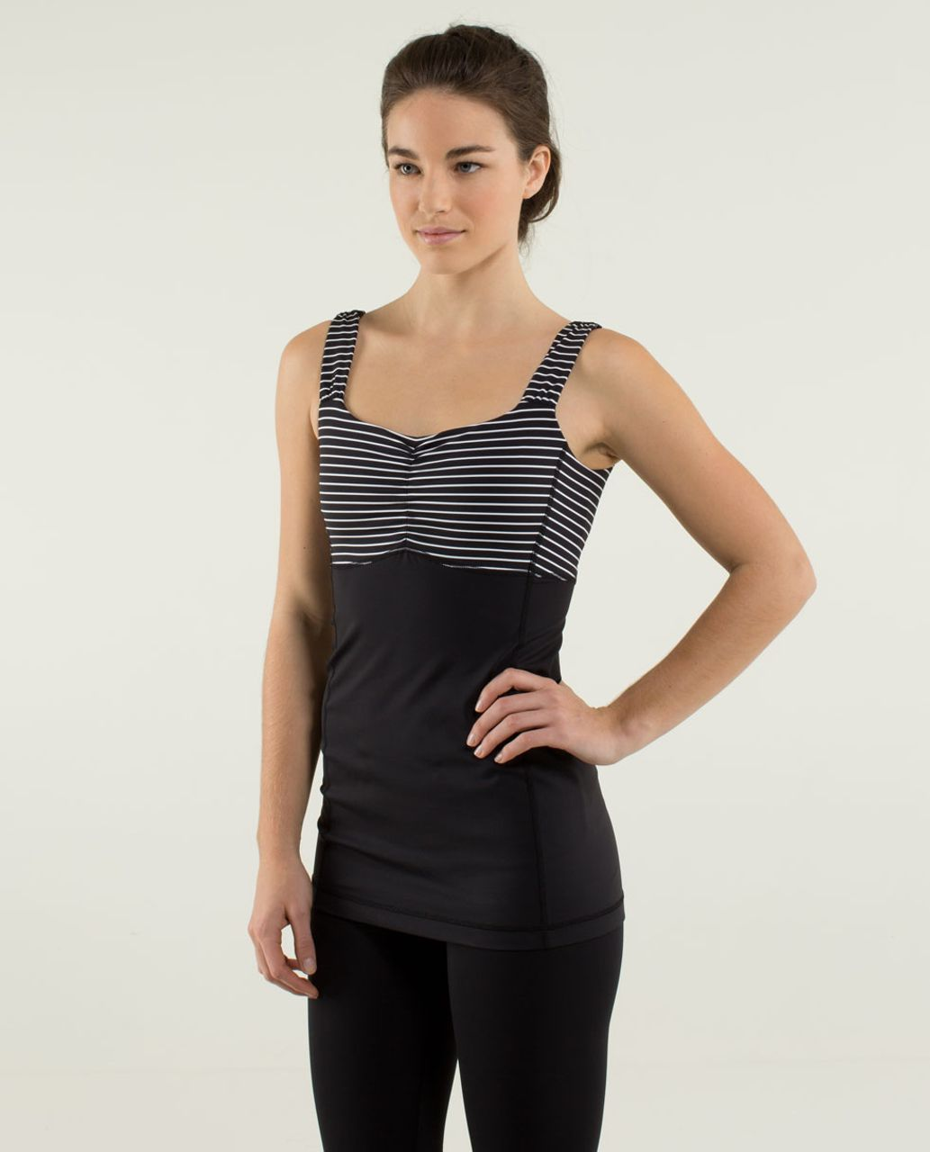 Lululemon Aria Tank II - Parallel Stripe Black White / Black