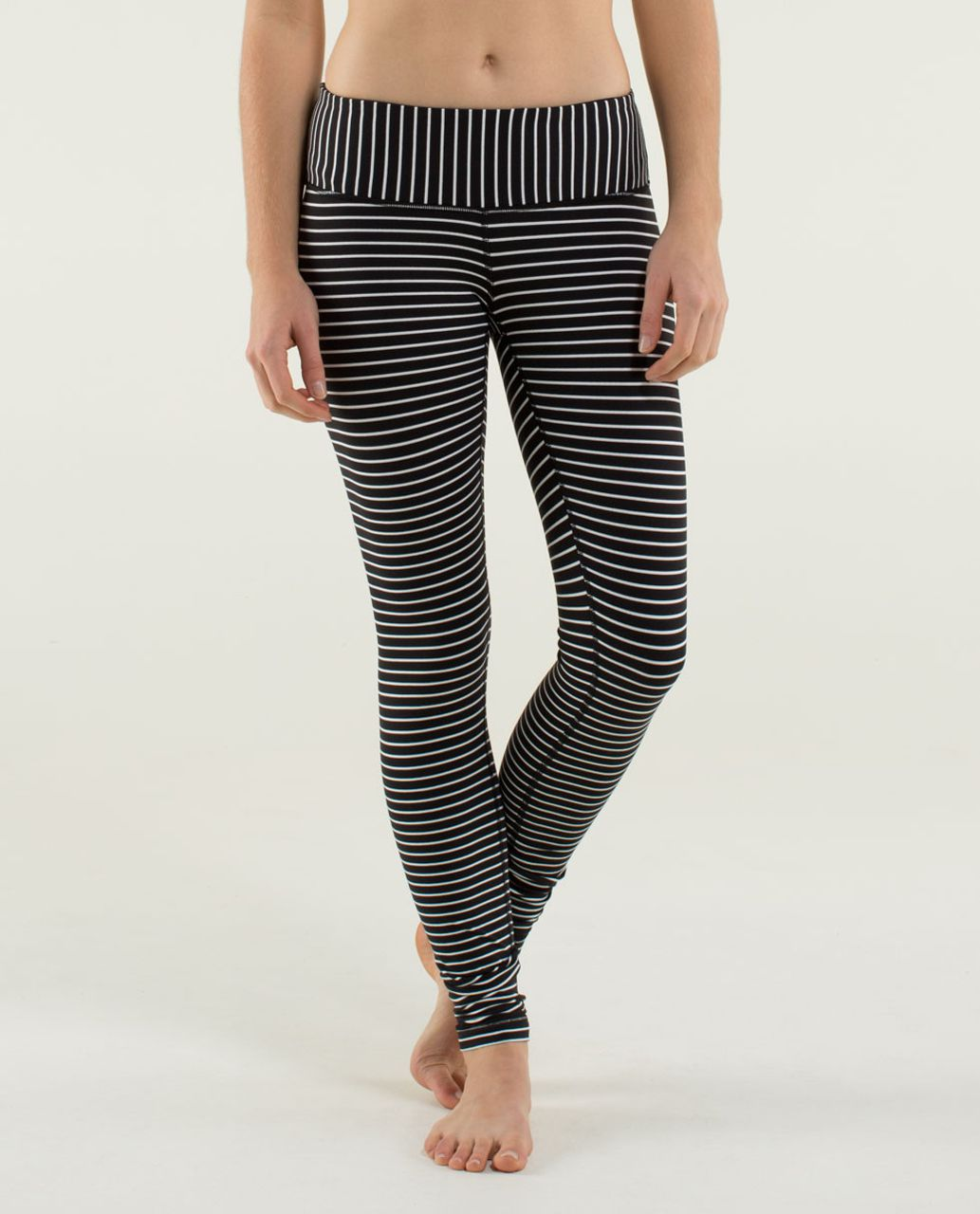 Lululemon Wunder Under Pant - Parallel Stripe Black White / Black