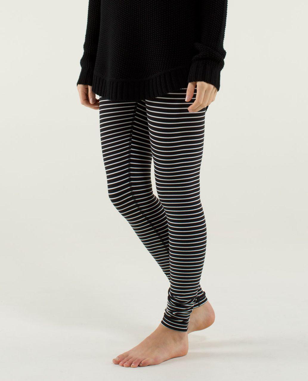 Lululemon Wunder Under Pant - Parallel Stripe Black White / Black