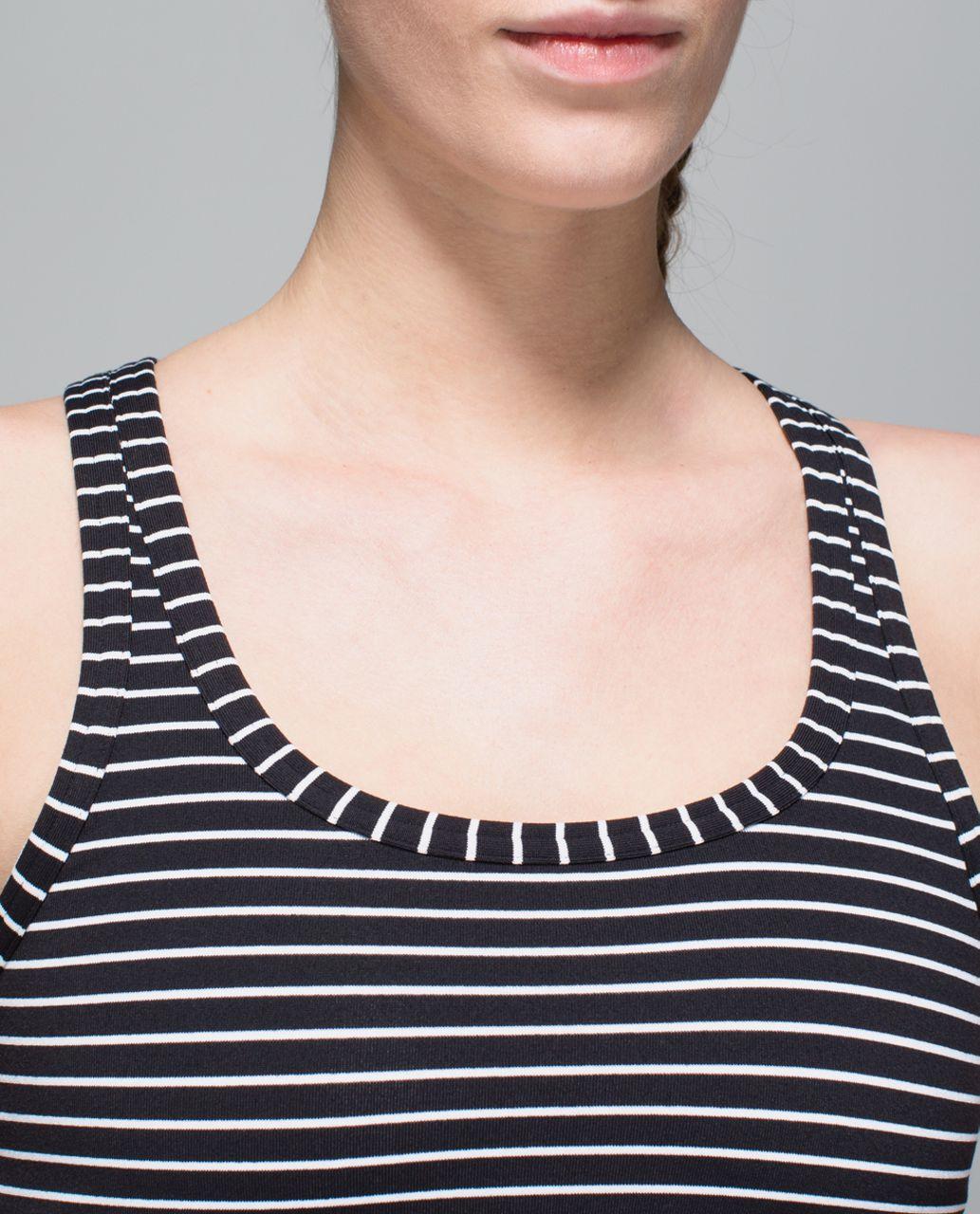 Lululemon Studio Racerback - Parallel Stripe Black White