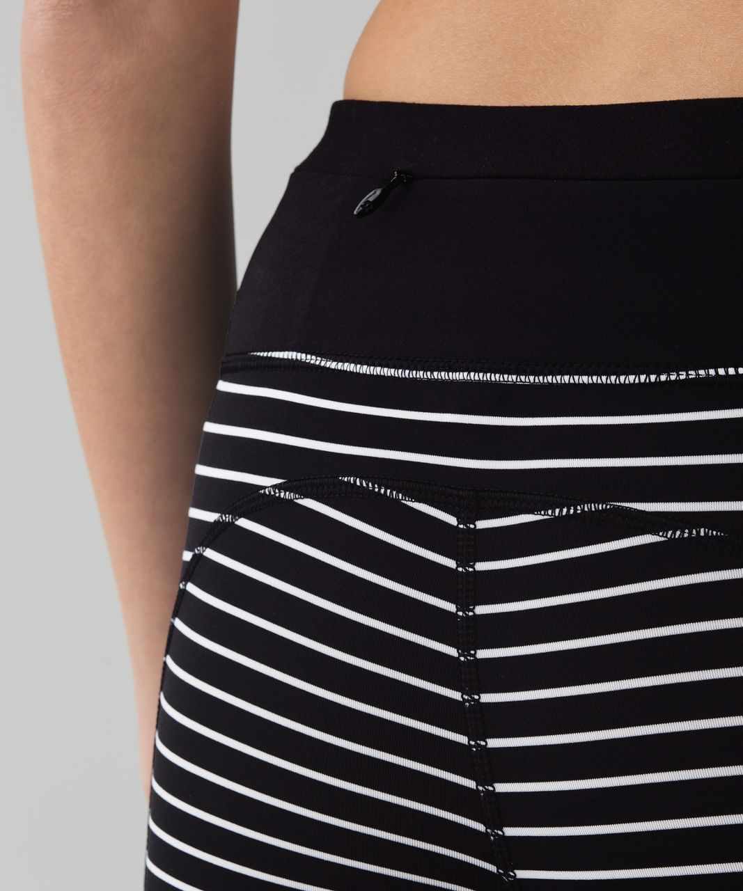 Lululemon Speed Tight II - Parallel Stripe Black White / Black