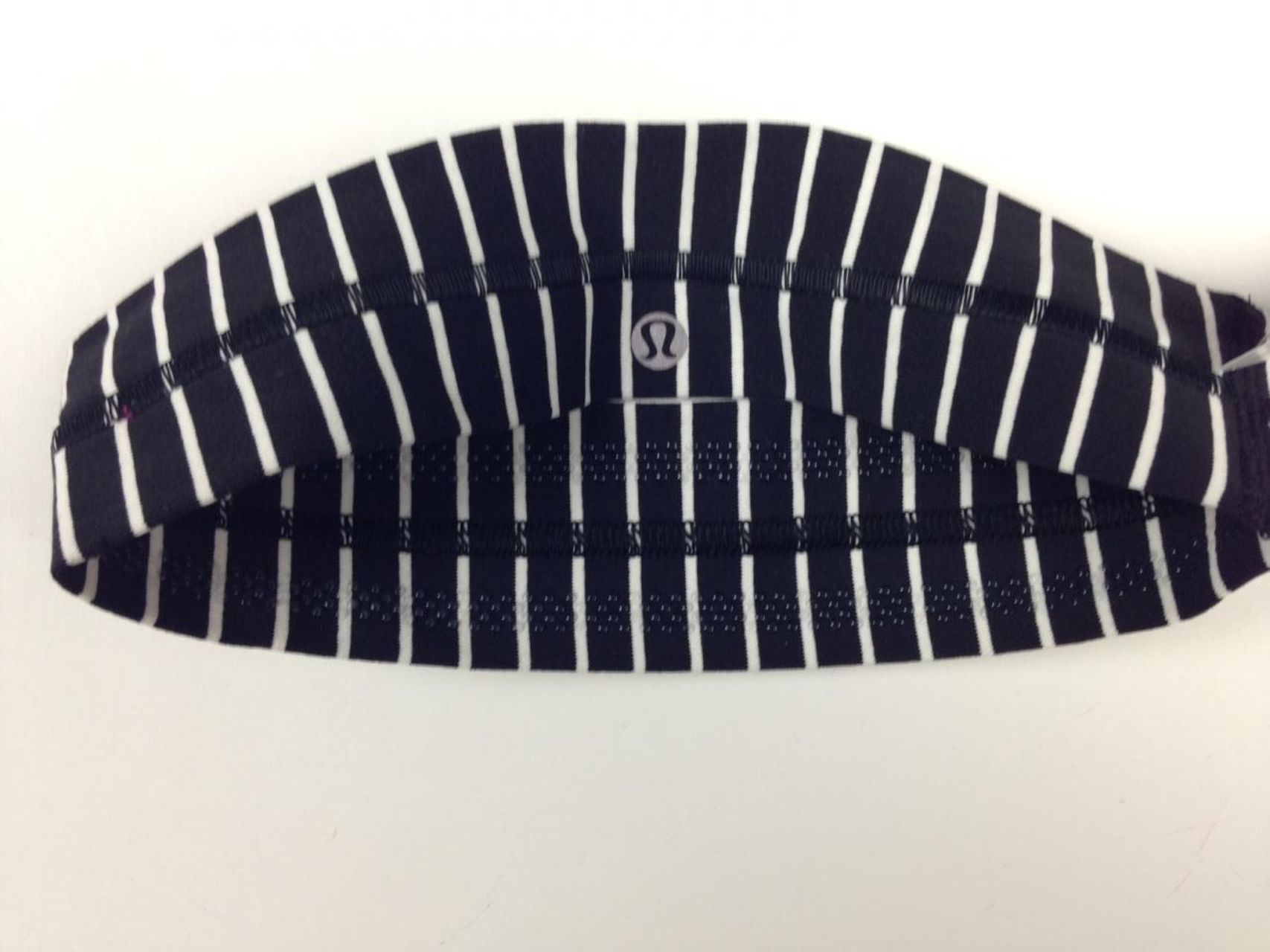 Lululemon Fly Away Tamer Headband - Parallel Stripe Black White