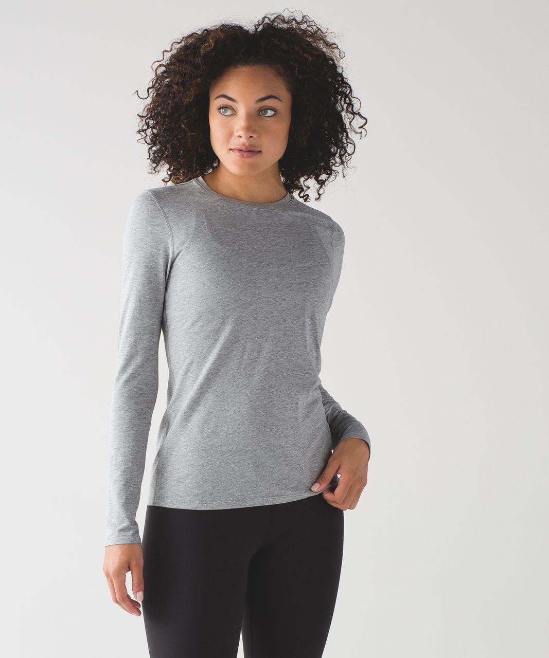 Lululemon Kitsilano Long Sleeve - Heathered Medium Grey