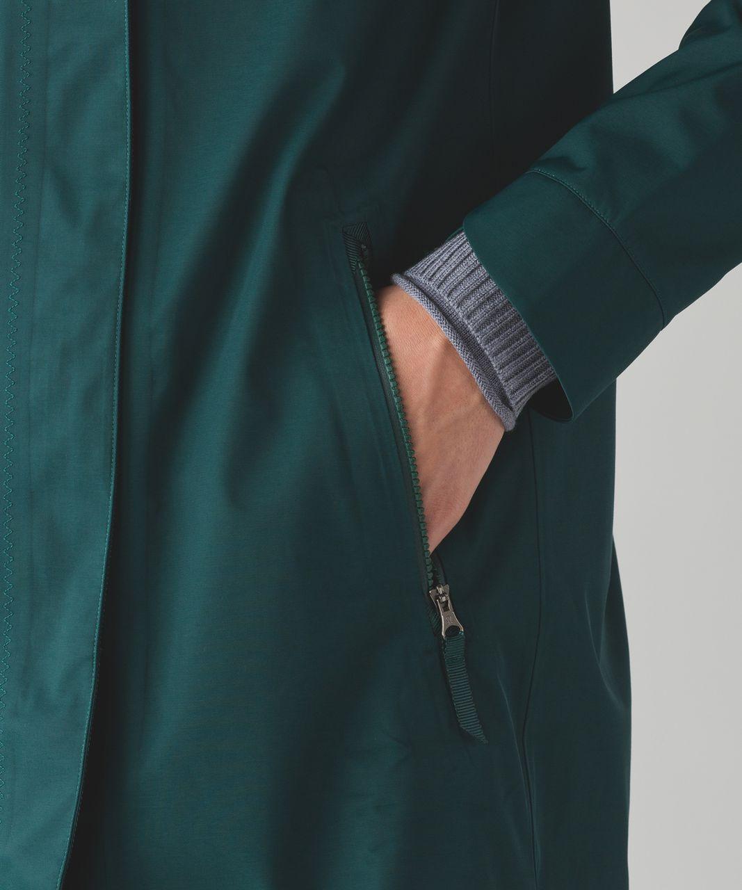 Lululemon Savasana Waterproof Jacket II - Deep Green