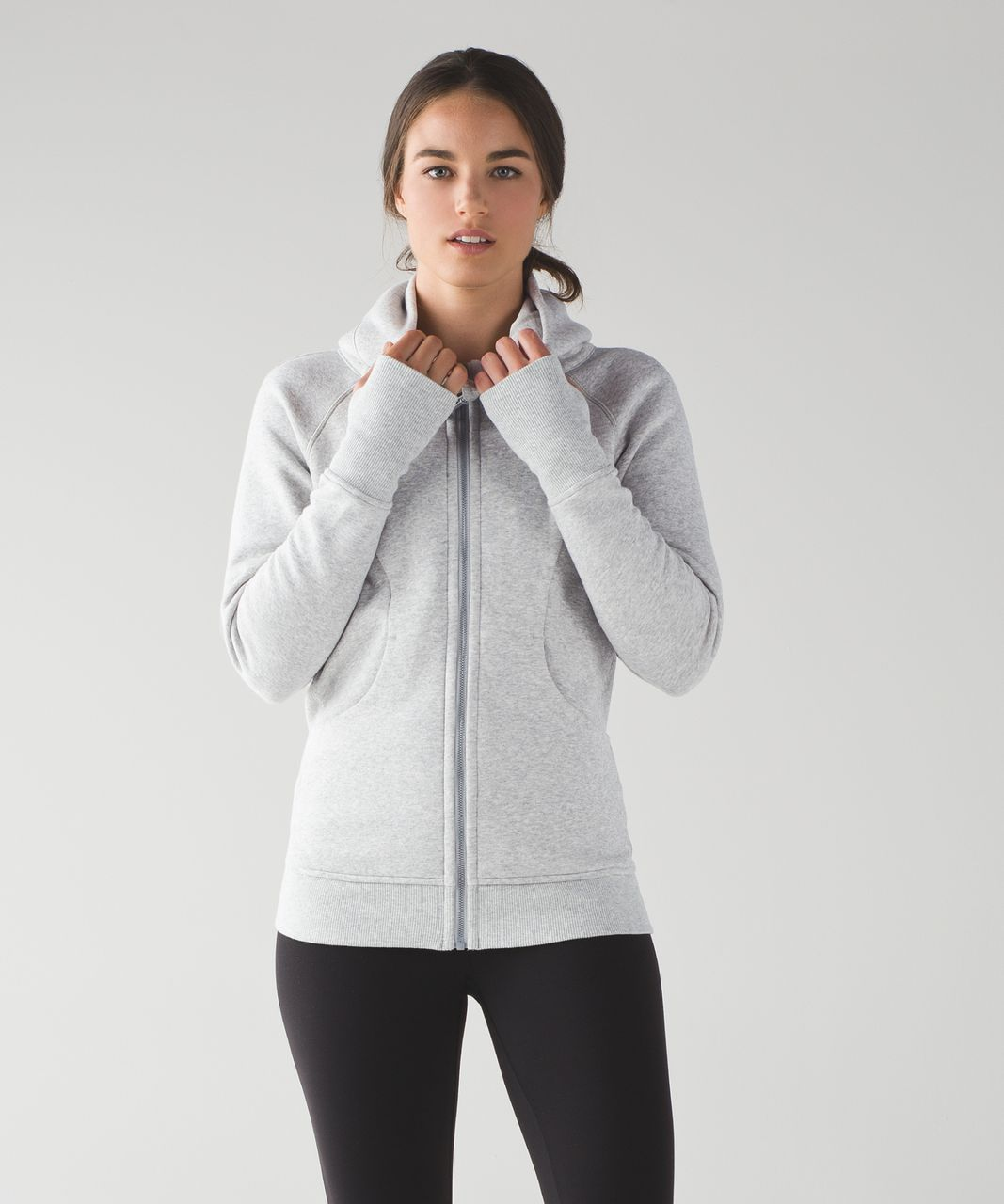 Lululemon Scuba Hoodie *Classic Cotton Fleece - Heathered Light Grey