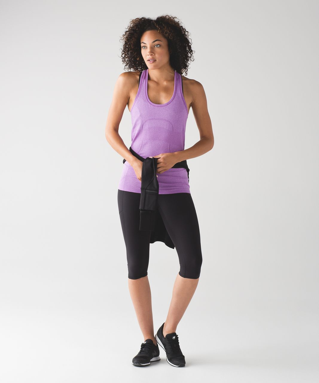 Lululemon Swiftly Tech Racerback - Heathered Moonlit Magenta