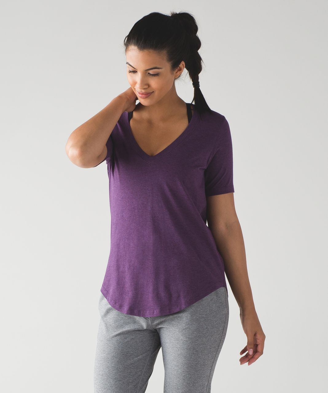 Lululemon Love Tee III - Heathered Darkest Magenta