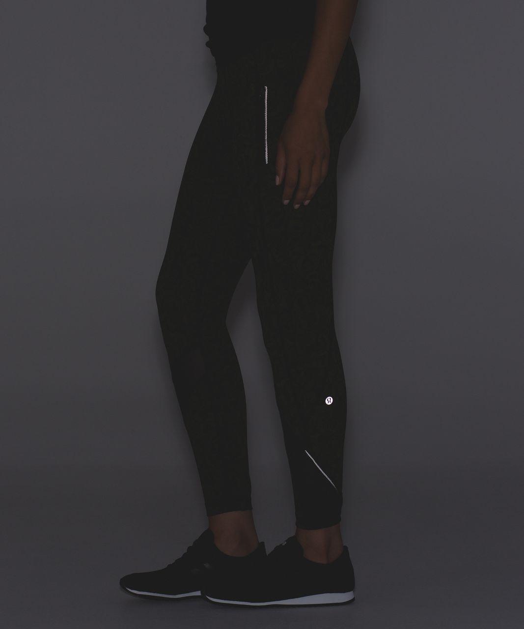 Lululemon Inspire Tight II - Pencil Lace Brave Olive Black / Black