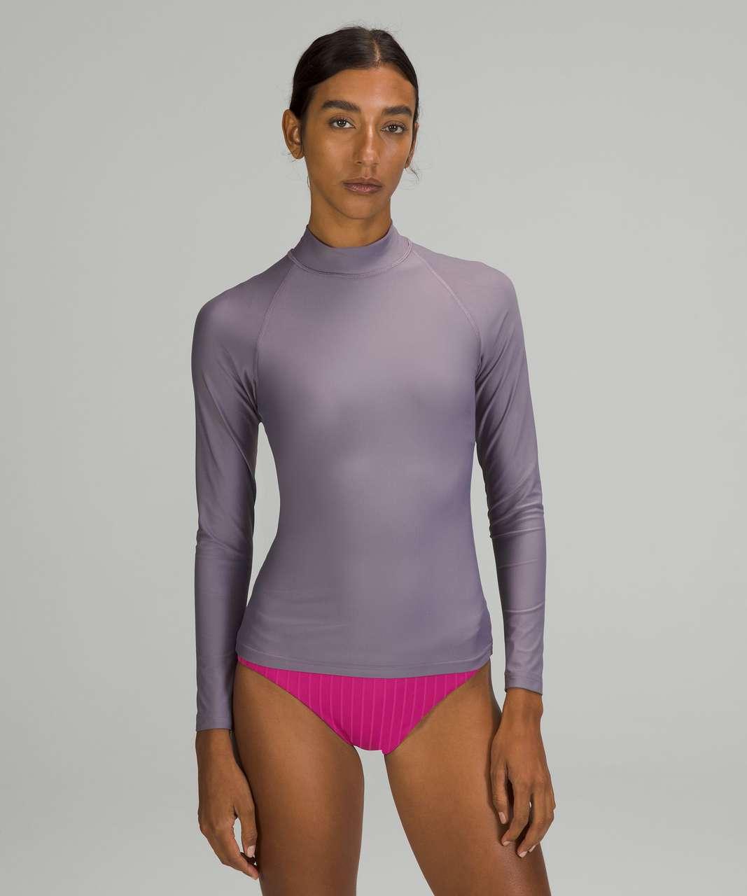 Lululemon Waterside UV Protection Long-Sleeve Rash Guard - Dusky Lavender
