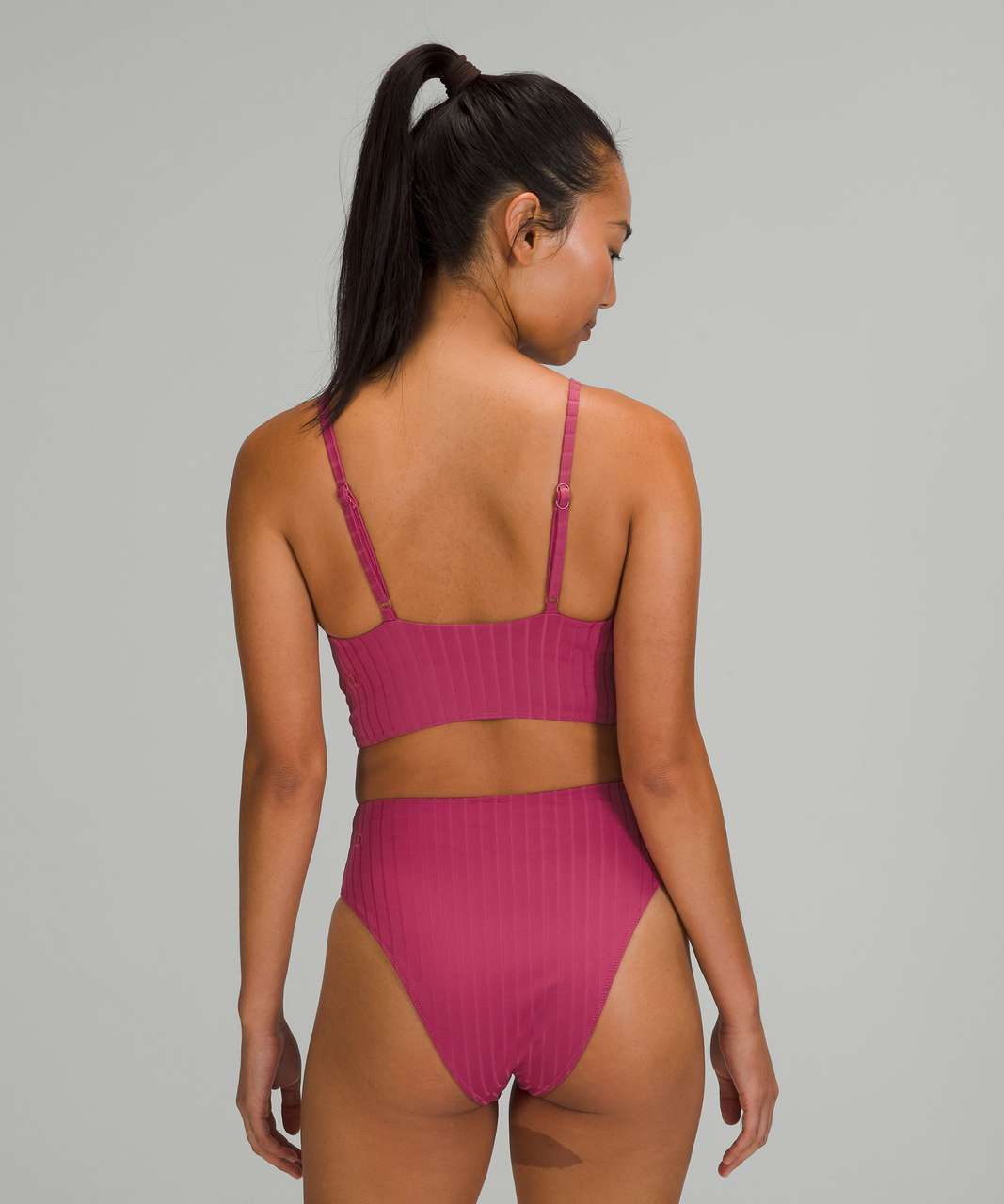 Lululemon Ribbed High-Neck Long-Line Top *B/C Cups - Pink Lychee